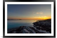 End Of The Day, Framed Mounted Print