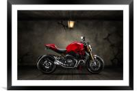 Ducati Monster 696 Old Room, Framed Mounted Print
