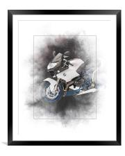 BMW HP2 Sport Painting, Framed Mounted Print