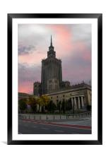 Palace of Culture and Science, Framed Mounted Print