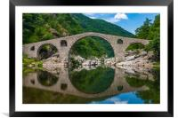 The Devils Bridge, Framed Mounted Print