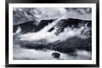 The Lakes in the mist, Framed Mounted Print