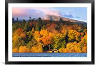 Autumn in the Lakes, Framed Mounted Print