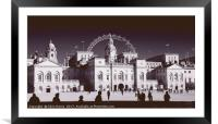 Horse Guards Parade, Framed Mounted Print