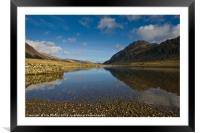 Snowdonia reflections, Framed Mounted Print