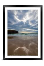 Beach reflections., Framed Mounted Print
