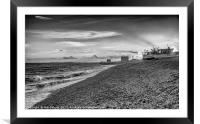 View along Fishermans beach , Framed Mounted Print