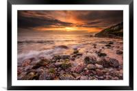 Berry Head Sunset, Framed Mounted Print