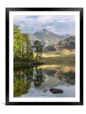 Early morning at Blea Tarn in the Lake District, Framed Mounted Print