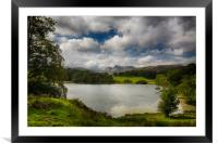 Loughrigg Tarn in Lake District, Framed Mounted Print
