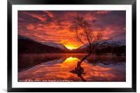 Fire in the sky!, Framed Mounted Print