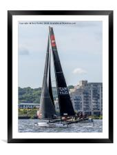 Extreme Sailing Series - Cardiff Bay - Team Wales, Framed Mounted Print