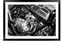 Honda 350 Four Classic Motorcycle, Framed Mounted Print
