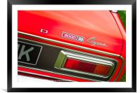 Ford Capri 3000E Rear, Framed Mounted Print