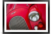 Morgan Sports Car Front Detail, Framed Mounted Print