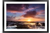 Derrymore Strand at Sunset, Dingle Peninsula, Framed Mounted Print