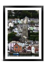 Picturesque Coastal Town of Fowey Cornwall, Framed Mounted Print