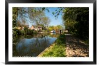 Summer Canal, Framed Mounted Print