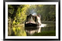 down by the canal side, Framed Mounted Print