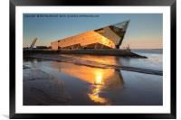 The Deep in Hull, Golden Sunset on the Humber, Framed Mounted Print