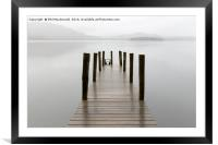 Sunset Jetty, Derwentwater in the UK Lake District, Framed Mounted Print