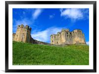 walkworth castle in northumbria , Framed Mounted Print