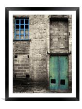 once was industry - halifax, Framed Mounted Print