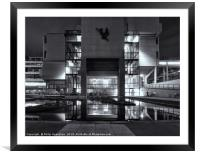 Roger Stevens Building Illuminated, Framed Mounted Print
