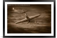 Hawker Hurricane by moonlight, Framed Mounted Print