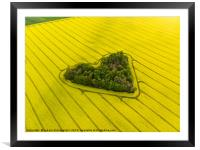 Heart of a nature, Framed Mounted Print