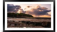 Stormy Sunset at Low Hauxley, Framed Mounted Print