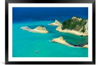 Cape Drastis cliffs in northern Corfu, Framed Mounted Print