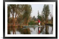 Mexican water district of Xochimilco.  , Framed Mounted Print