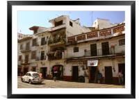 Taxco street, Mexico, Framed Mounted Print