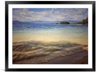 Sunny day on the lake Turgoyak , Framed Mounted Print