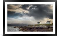 Stormy Sky at Penmon Point, Anglesey., Framed Mounted Print