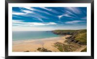 Newgale Beach at Low Tide., Framed Mounted Print