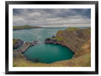 Blue Lagoon,Abereiddy, Pembrokeshire., Framed Mounted Print