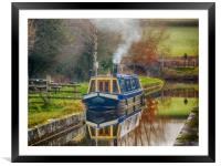 Canal Boat on Brecon and Monmouthshire Canal., Framed Mounted Print