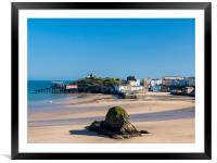 Tenby in Spring., Framed Mounted Print