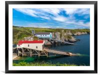 St Justinian's Lifeboat Station, Pembrokeshire., Framed Mounted Print