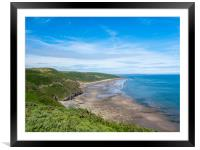 Marros Beach. Carmarthenshire, Wales., Framed Mounted Print