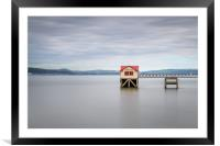 The old lifeboat house at Mumbles., Framed Mounted Print