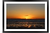 Sunset over the Moray Firth, Framed Mounted Print