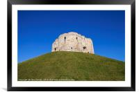 Clifford's Tower in York, Framed Mounted Print