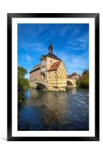 Altes Rathaus in Bamberg, Framed Mounted Print