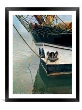 Old Sailing Ship Albatros - Wells next the Sea Nor, Framed Mounted Print