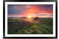 Hadrian's Wall, Framed Mounted Print