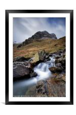 Greenhow End Waterfalls, Framed Mounted Print