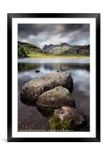 Blea Tarn to the Pikes, Framed Mounted Print